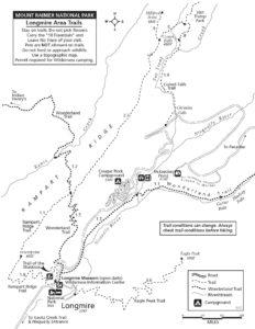 Longmire Cougar Rock Area Trail Map