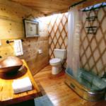 Huckleberry Yurt at Happy Tails bathroom