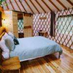 Huckleberry Yurt at Happy Tails bedroom