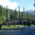 Bridge over the river at Soda Springs Campground