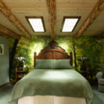 Bedroom at Treehouse at Wellspring