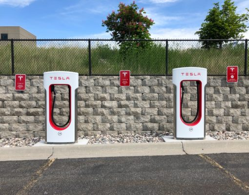 Two Tesla Charging Stations