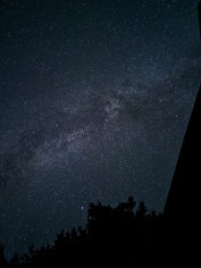Night sky from Alder Lake Lookout