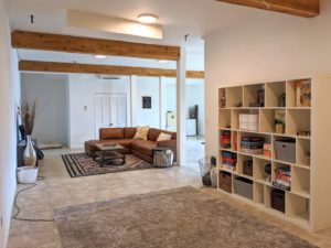 Living area at Alder Lake Lookout
