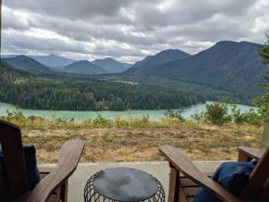 Mountain view from Alder Lake Lookout