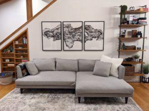 Sofa at Alder Lake Lookout