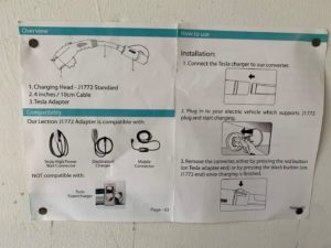 Tesla charger instructions