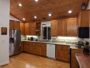 Kitchen area at Alder Lake Lookout
