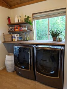 Laundry area at Alder Lake Lookout
