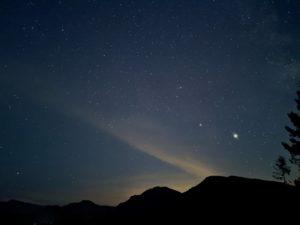 Night sky at Alder Lake Lookout