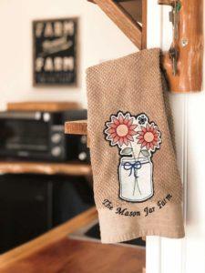 Mason Jar Farm guest room towel