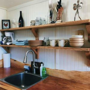 Mason Jar Farm guest room sink