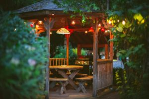 Access to a shared covered gazebo