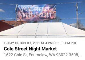 Cole Street Night Market Sign
